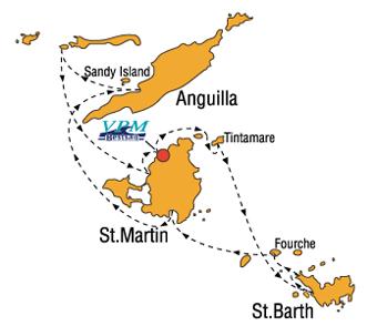 Carte Itineraire Croisiere St Barth